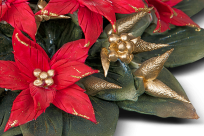 Portacandela Rosso Natale