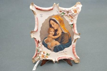 Pergamena Vergine con il Bambino