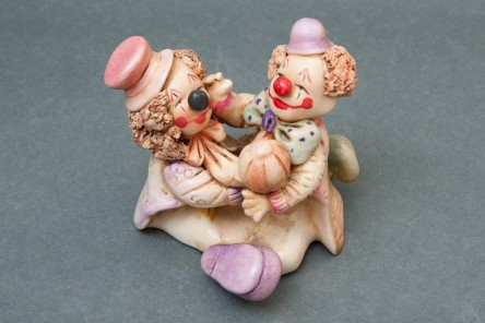 Figurine Couple Brothers Clown