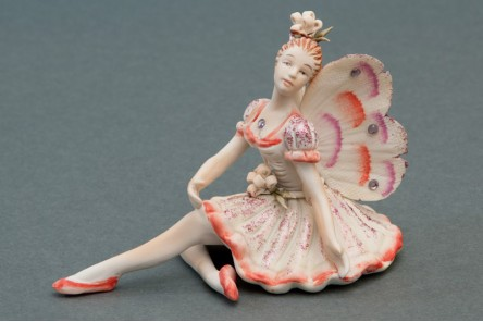 Orange Fairy Statuette