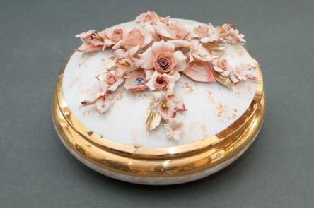 Round Gold Jewel Box