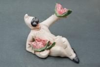 Pulcinella con anguria